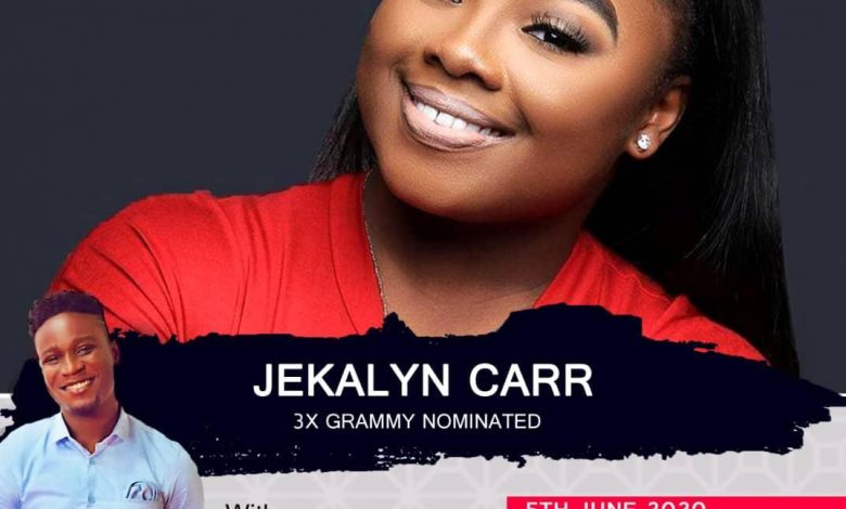 Bra Banie to Host 3x Grammy Nominated Gospel Singer Jekalyn Carr on Christian Vibes Gh Live.
