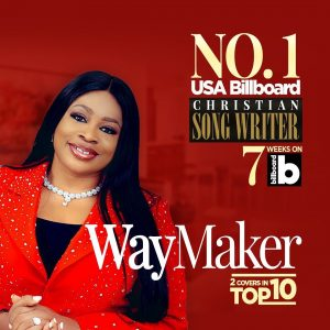 Sinach becomes the first African to rank at number one on the Christian Songwriters' category of the USA Billboard