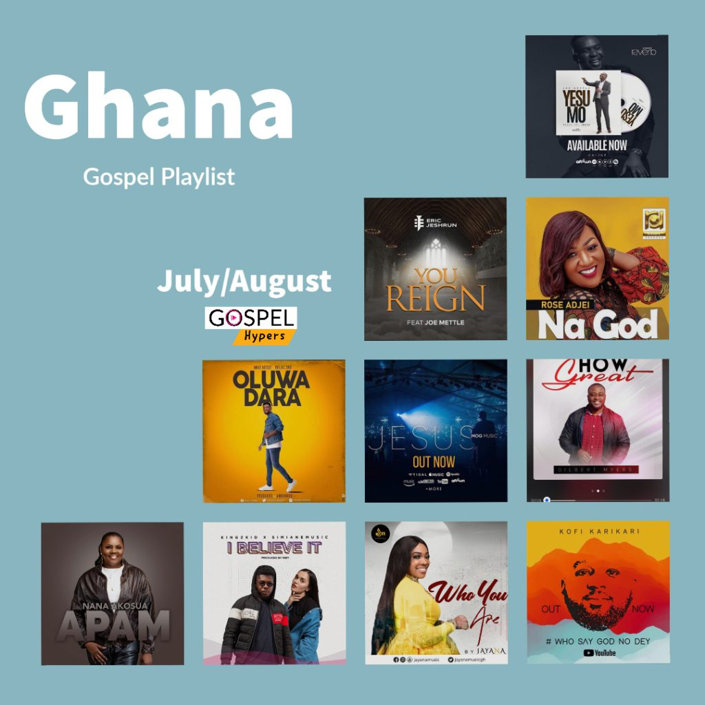 Ghana Gospel Music Top 10 With Sista Ginna [July/August Edition]