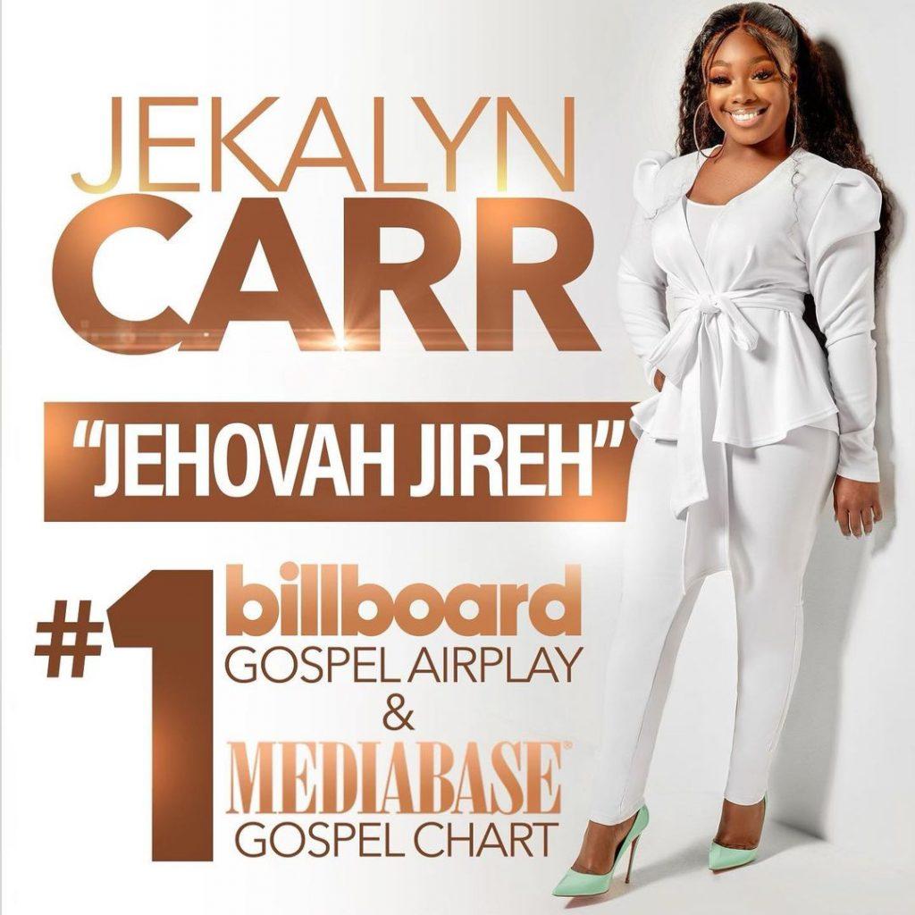 """Jekalyn Carr """"Jehovah Jireh"""" Earns A Fifth #1 Spot On Billboard's Top Gospel Chart"""